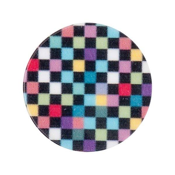 Rico Design Scheibe Kunststoff Schachbrett mehrfarbig 30mm