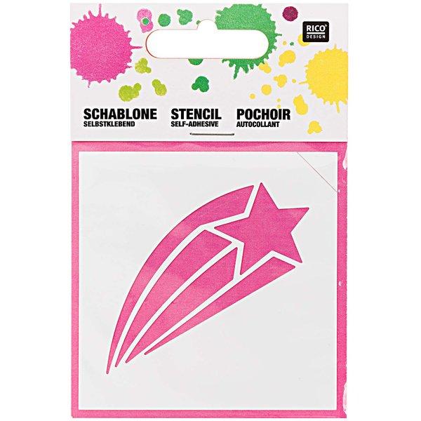 Rico Design Schablone Sternschnuppe 7,5x7,5cm selbstklebend