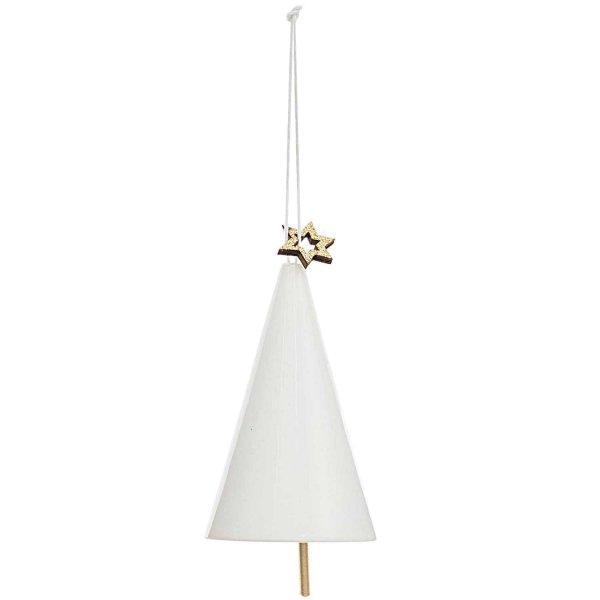 Ohhh! Lovely! Porzellanhänger Glöckchen Weihnachtsbaum weiß 5,5x9cm