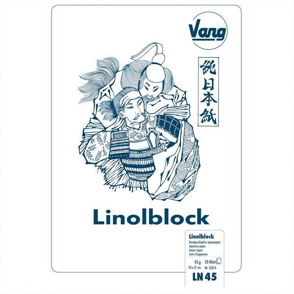 Vang Linolblock Japanpapier 23x31cm 45g/m² 20 Blatt