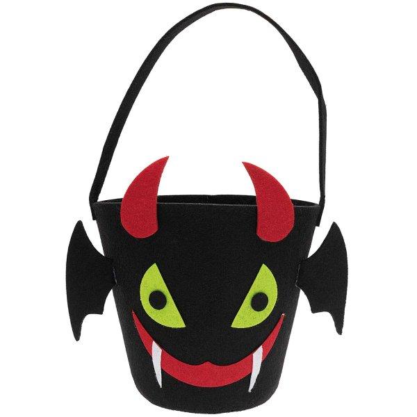 Ohhh! Lovely! Halloween Filzkorb schwarz 16x16cm