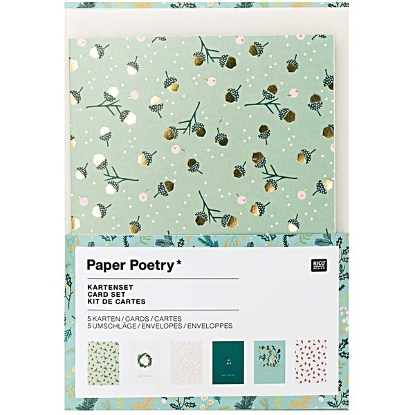 Paper Poetry Grußkartenset Classical Christmas A6 /C6 12teilig
