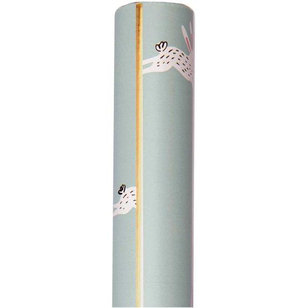 Paper Poetry Geschenkpapier Bunny Hop mint 70cm 2m Hot Foil
