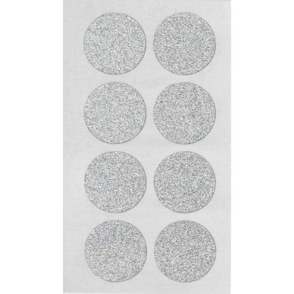 Paper Poetry Sticker Kreise Glitter silber 4 Blatt L