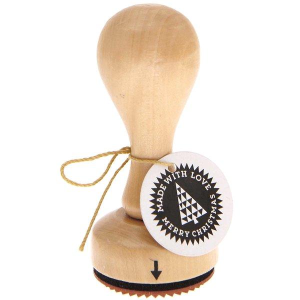 Rico Design Stempel Made with Love Christmas Ø=3,5cm rund