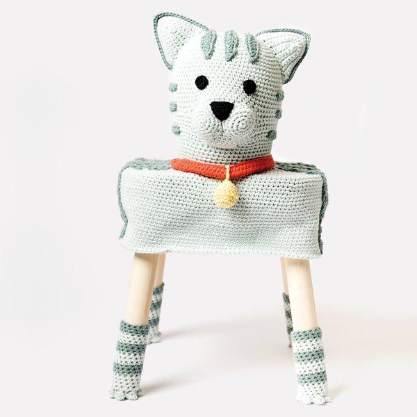 "Rico Design Häkelset Stool Cover Katze ""Greta"""