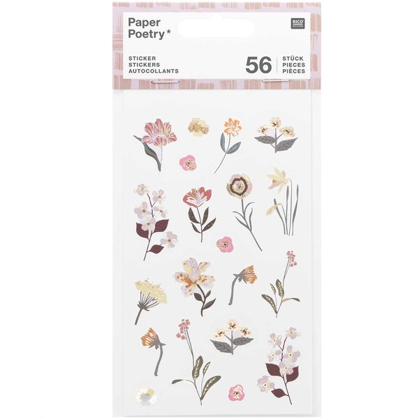 Paper Poetry Sticker Nature Matters mauve 4 Blatt