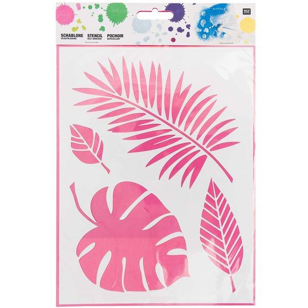 Rico Design Schablone Blätter Mix 18,5x24,5cm selbstklebend