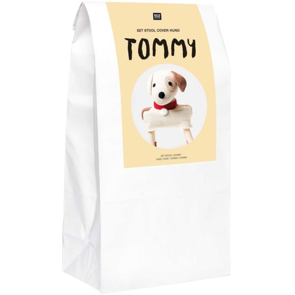 "Rico Design Häkel-Set Stool Cover Hund ""Tommy"""