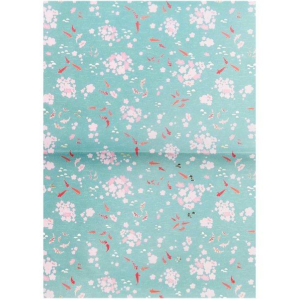 Rico Design Paper Patch Papier Jardin Japonais Kois & Blumen 30x42cm