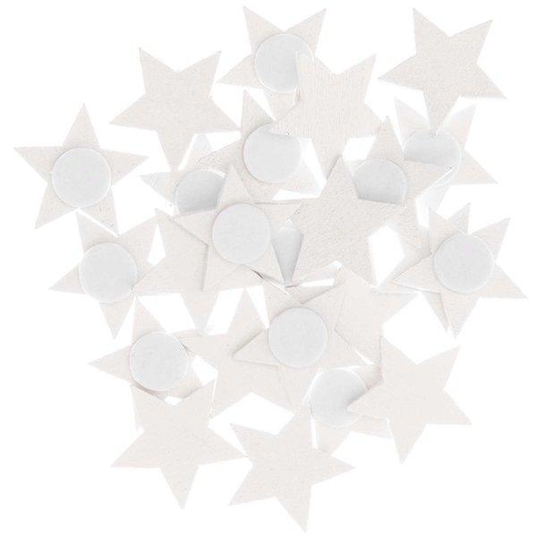 Ohhh! Lovely! Holzsticker Sterne weiß 20x19mm 24 Stück