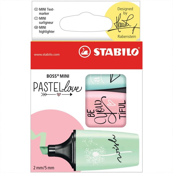 Stabilo Textmarker Boss Mini Pastellove Edition designed by Hannah Rabenstein