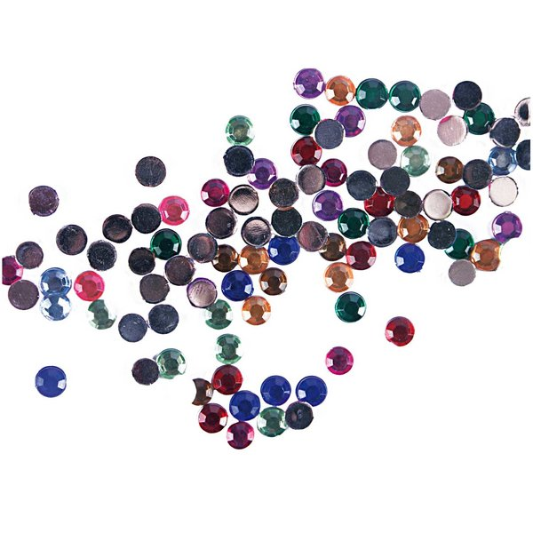 Rico Design Strass Kreis mehrfarbig 100 Stück