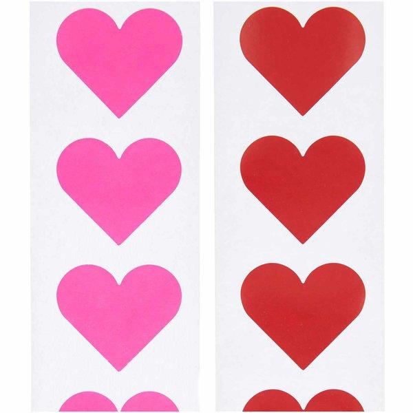 Paper Poetry Sticker Herzen 5cm 120 Stück auf der Rolle