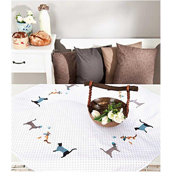 Rico Design Stickpackung Decke Katzen 95x95cm