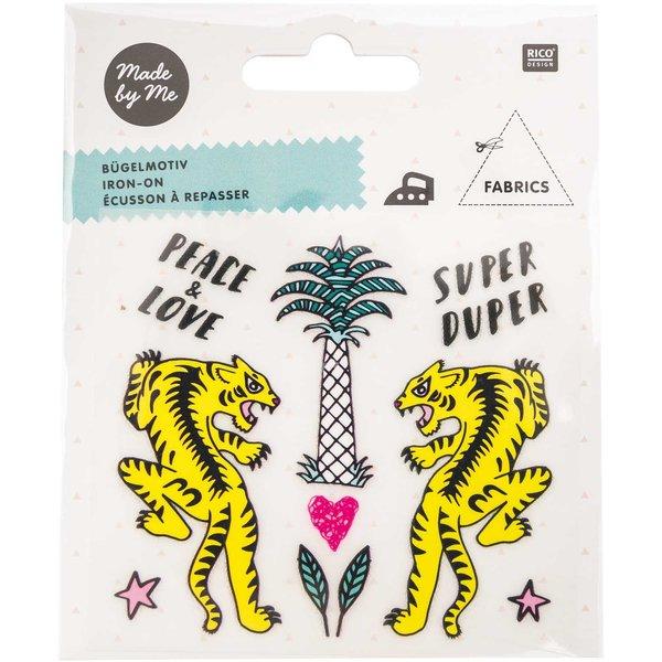 Rico Design Bügelmotivset Tiger-Palme 10teilig