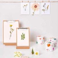Anleitung Karten und Schachteln mit gepressten Blumen verzieren