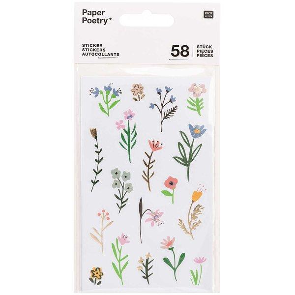 Paper Poetry Sticker Bunny Hop Streublumen 58 Stück