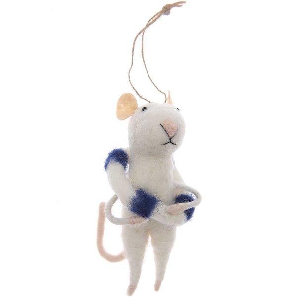Ohhh! Lovely! Filzhänger Maus mit Rettungsring 11cm