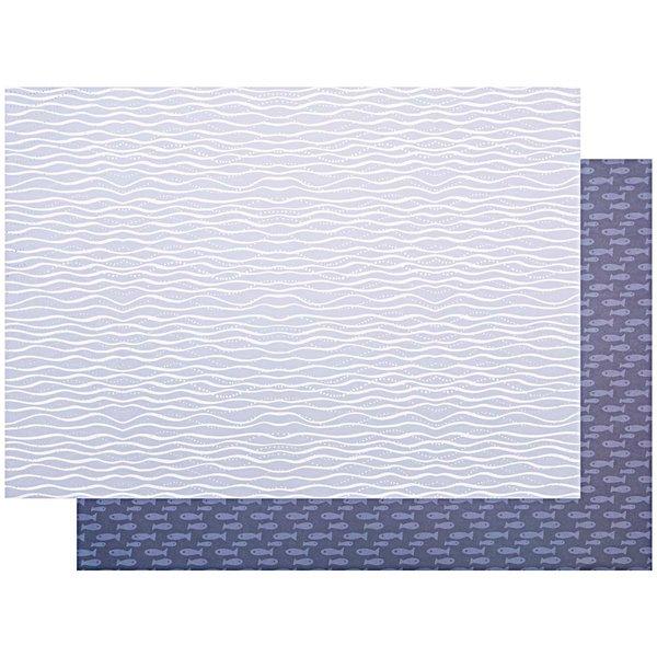 Paper Poetry Motivkarton Mermaid Wellen blau-weiß 50x70cm