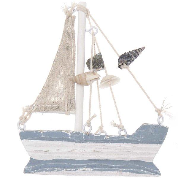 Ohhh! Lovely! Segelboot aus Holz 12,5x10x3cm