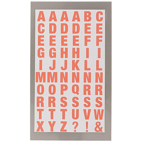 Paper Poetry Office Sticker Buchstaben weiß-neonrot 4 Bogen