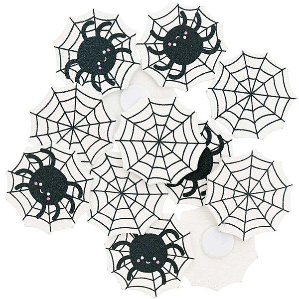 Ohhh! Lovely! Holzsticker Spinnennetz Mix schwarz-weiß 12 Stück