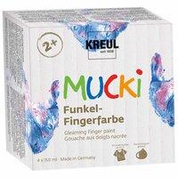 Kreul MUCKI Funkel-Fingerfarbe 4 Farben