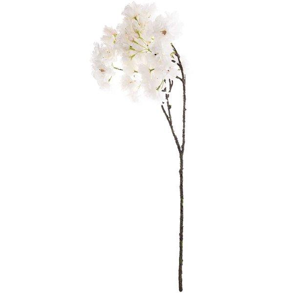 Kirschblütenzweig mit 3 Blüten weiß 73cm