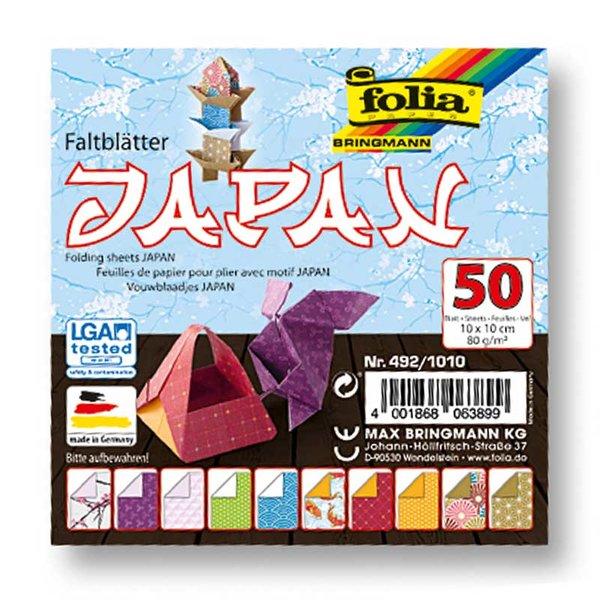 folia Faltblätter Japan 10x10cm 50 Blatt