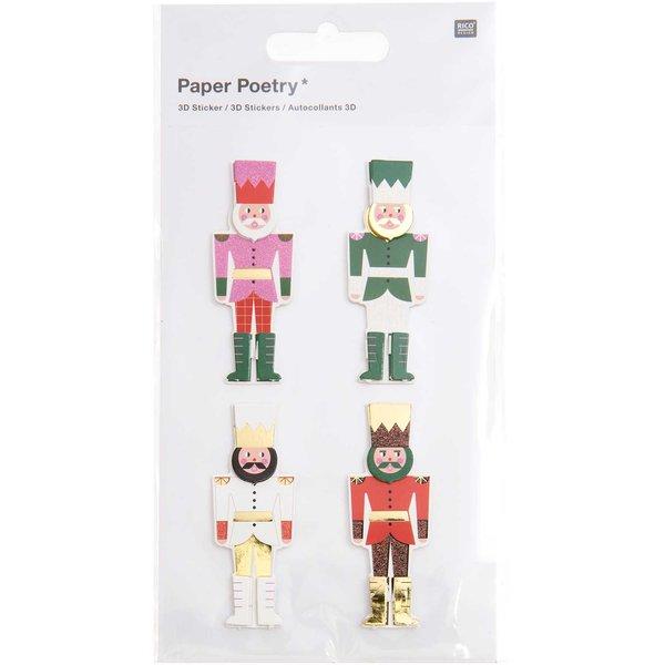 Paper Poetry 3D-Sticker Nussknacker 1 Blatt