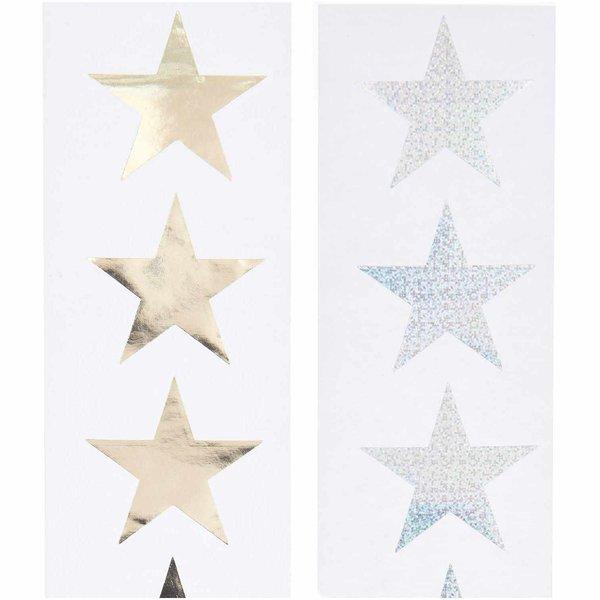 Paper Poetry Sticker Sterne 5cm 120 Stück auf der Rolle Hot Foil