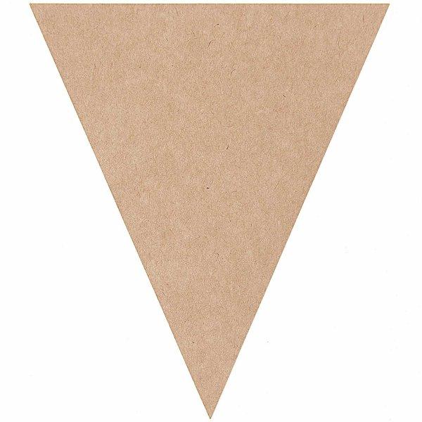 Paper Poetry Kraftpapier Wimpel 15x13cm 12 Stück