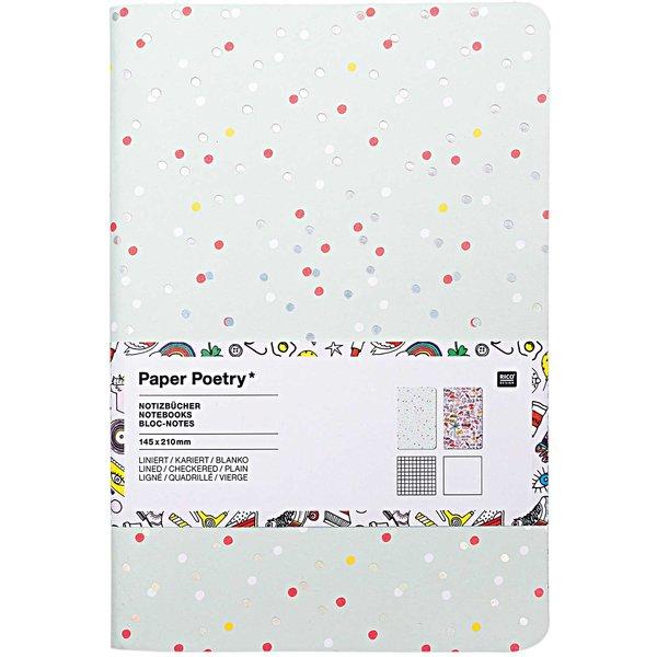 Paper Poetry Notizbücher A5 14,5x21cm 2 Stück