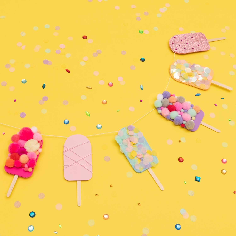 Kostenlose Anleitung Eis Girlande Basteln Jetzt Online Downloaden