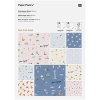 Paper Poetry Motivpapierblock Maritim DIN A4 30 Blatt