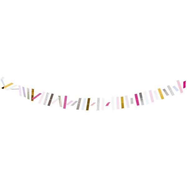 YEY! Let's Party genähte Girlande Streifen pastell 1,8m