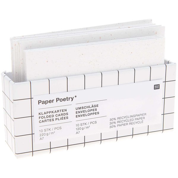 Paper Poetry Kartenset offwhite C7/A7 20teilig