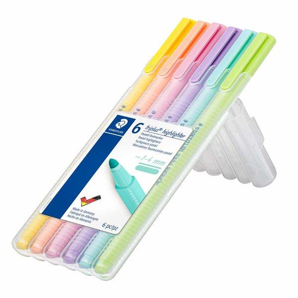STAEDTLER 362 Textmarker Triplus Highlighter Pastell 6 Stück