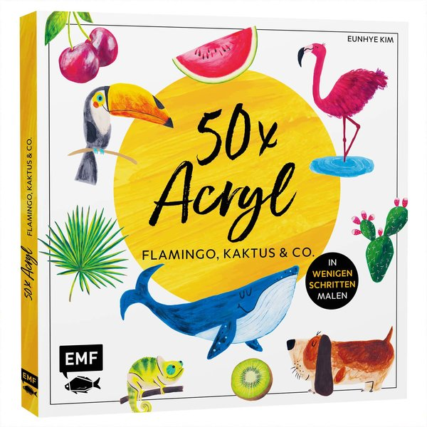 EMF 50x Acryl - Flamingo, Kaktus & Co.