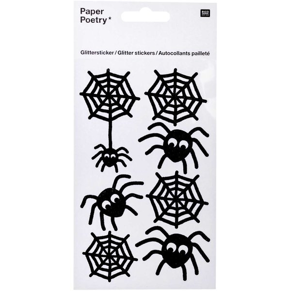 Paper Poetry Glittersticker Spinnen