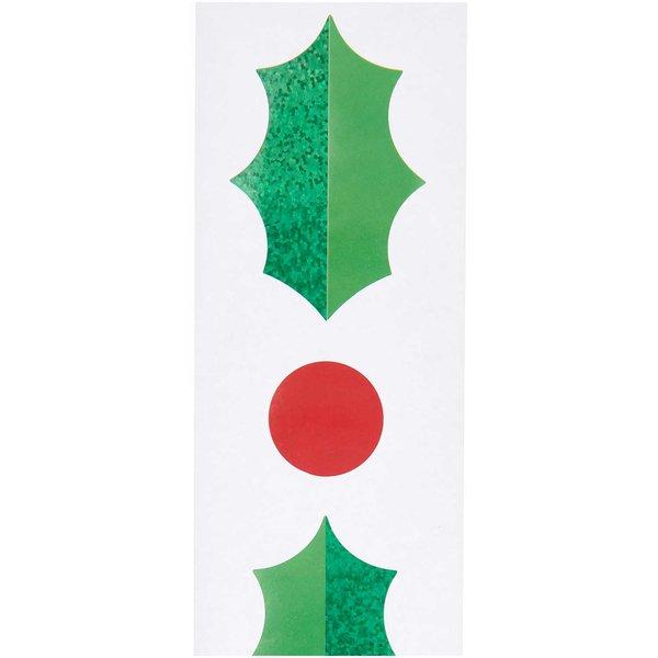 Paper Poetry Sticker Ilex 120 Stück auf der Rolle Hot Foil