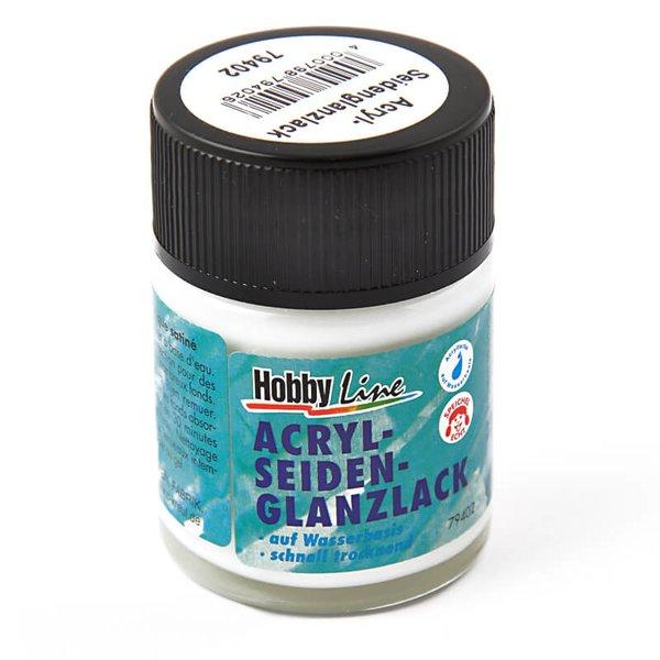 KREUL Hobby Line Acryl Seidenglanzlack transparent 50ml