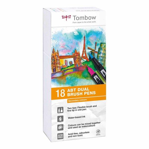 Tombow ABT Dual Brush Pen Sekundärfarben 18er Set