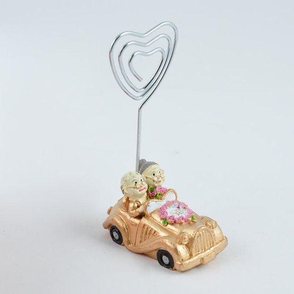 Kartenhalter Goldpaar im Auto 9cm