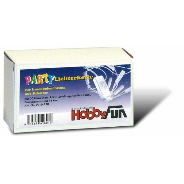 HobbyFun Lichterkette weiß 20er mit Schalter