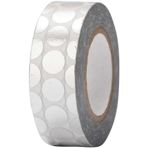 Paper Poetry Tape Punkte silber 15mm 10m Hot Foil