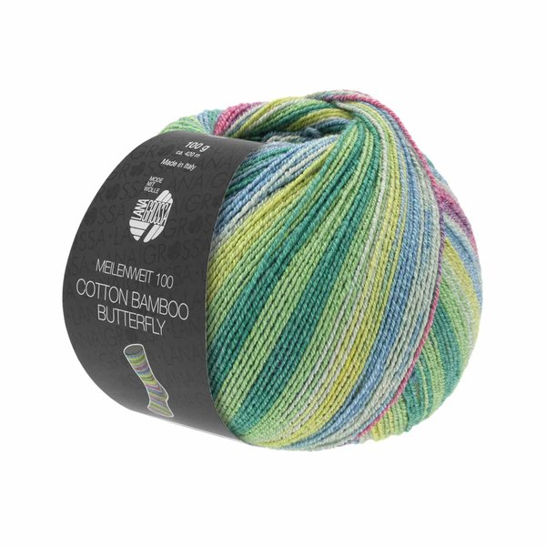 Lana Grossa Meilenweit 100 Cotton Bamboo Butterfly 100g 420m