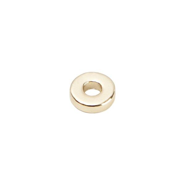 Rico Design Scheibe rund gold 12mm 15 Stück