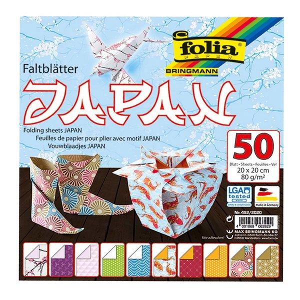 folia Faltblätter Japan 20x20cm 50 Blatt